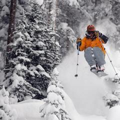 Telluride, CO powder skier gets air