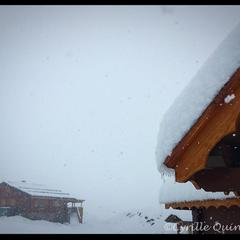 The heavy snow Alpe d'Huez last week (pic Nov. 6) will be followed by a whopping metre of snow this weekend.
