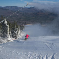 First tracks of the season at Sunday River. - ©Sunday River