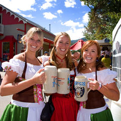Breckenridge CO Oktoberfest girls with steins - Jeff Scroggins