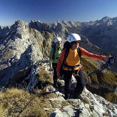 Frauen am Mittenwalder Klettersteig - ©Wolfgang Ehn