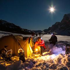 Winterliches Camping vor dem Wetterhorn - ©Iris Kürschner
