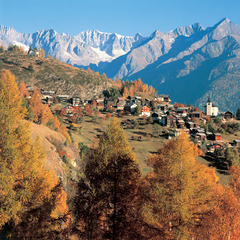 Fall in Swiss Alps SUI (ST Giegel)