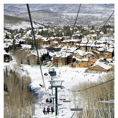 Deer Valley UT 012 Sterling Express Chairlift and Silver Lake Village-0012