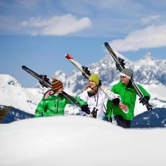 Schladming Dachstein AUT skiers