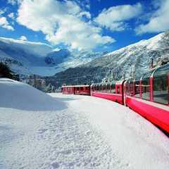 Zimní kouzlo v Bernina Expressu