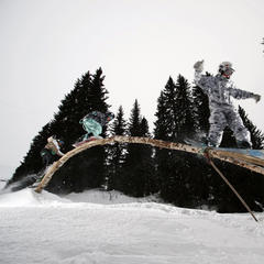 Avoriaz's ecological snowpark The Stash, France - ©Avoriaz