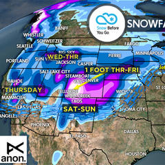 1.12 Snow Before You Go: Pineapple Express Final Powder Push - ©Meteorologist Chris Tomer