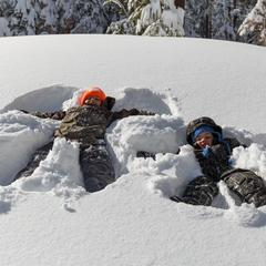 Snow angels in Mammoth - ©Mammoth Lakes Tourism