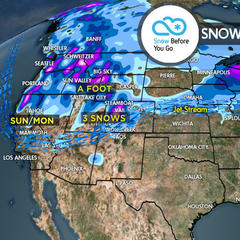 2.23 Snow Before You Go: 3 Storms & Heavy Accumulations - ©Meteorologist Chris Tomer