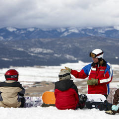 Angel Fire NM Child Snowboard Lesson - © Chris McClennan