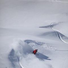 Off-piste in El Colorado, Chile