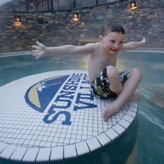 Sunshine Village hot tub, AB