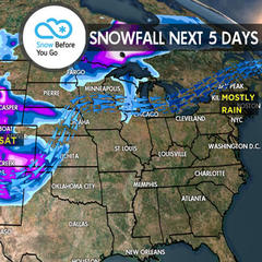 4.27 Snow Before You Go: 2 Storms & Heavy Snow for West - ©Meteorologist Chris Tomer