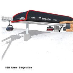 Bergstation der neuen Jufen-Sesselbahn im Skigebiet Kitzbühel - © Kitzski | Leitner