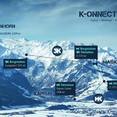 Die direkte Verbindung vom Ort Kaprun/Maiskogel zum Gletscher: Das ist das ambitionierte Projekt der Gletscherbahnen Kaprun AG, das mit 12 km Länge in den Ostalpen die längste zusammenhängende Seilbahnachse und gleichzeitig die größte Höhendifferenz darst - © © Gletscherbahnen Kaprun AG