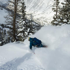 Getting after the Snowbird powder - © Eric Sales