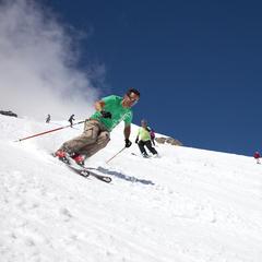 Summer skiing on Le Grand Motte Glacier in Tignes, France. - ©Tignes