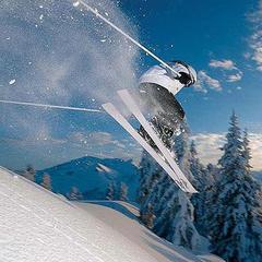Skiër in Val Gardena