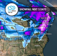 Serious Snow in Spots: 11.15 Snow B4U Go - ©Meteorologist Chris Tomer