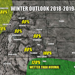 Winter weather outlook for the 18/19, West - © Meteorologist Chris Tomer