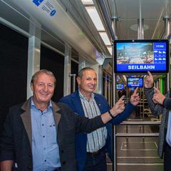 Neues Informationssystem in der U-Bahn von Serfaus - © Serfaus-Fiss-Ladis (c) Seilbahn Komperdell GmbH