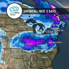Snow Hits Soon for West & Northeast: 1.10 Snow B4U Go - ©Meteorologist Chris Tomer