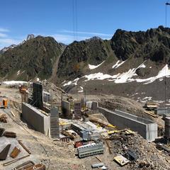 Baustelle der neuen Falginjochbahn im Juli 2019 - © Kaunertaler Gletscher