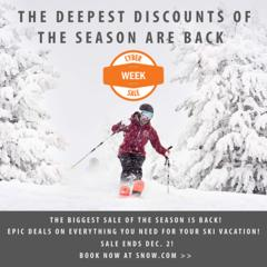 Score Deep Deals with the Vail Resorts Cyber Sale - ©Vail Resorts