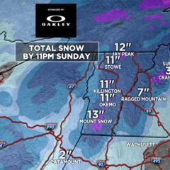 Much Needed Snow Headed East  - ©Meteorologist Chris Tomer