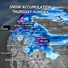 Snow Before You Go: Storms Bring Snow to the West - ©Meteorologist Chris Tomer