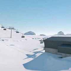 So soll die neue Talstation aussehen, wenn sie fertig ist - © Bergbahnen Wildhaus AG