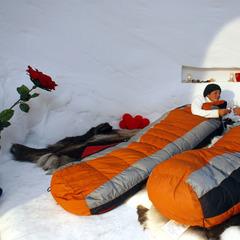 Romantische Nacht im ALPENIGLU® -Dorf  - ©Skiwelt Wilder Kaiser  - Brixental