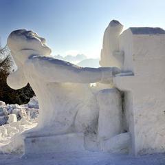 Schneefigur in Seefeld - ©Olympiaregion Seefeld