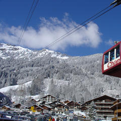 Champery tramThe gondola tram of Champery, Switzerland - ©Champery