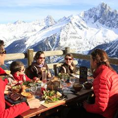 Lunch on the mountain in Chamonix