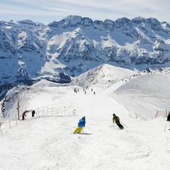 Op de pistes van de Portes du Soleil, het grootste aaneengesloten skigebied van Frankrijk - ©Nicolas Joly / Portes du Soleil