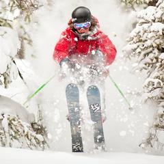 A skier rips through Sun Valley powder..  Photo courtesy of Visit Sun Valley. - ©Visit Sun Valley