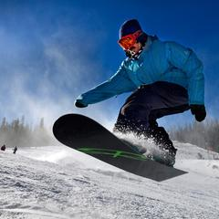 Snowboarders were out in force at Arapahoe Basin - ©Jack Dempsey