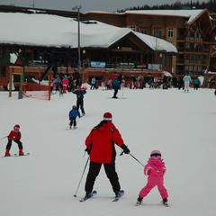 Families enjoy Schweitzer's atmosphere. Photo by Becky Lomax. - ©Becky Lomax