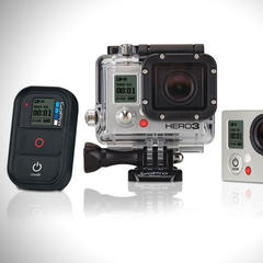 GoPro Hero3: Black Edition—The Hero3 Black Edition is GoPro's latest high-end camera. Featuring 4k resolution, it allows videographers to capture stunning images in rich detail. Tack on 1080p HD at 60 fps and a 12 megapixel camera and this is the only too - ©GoPro