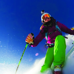 Skifahrerin mit der GoPro Hero3 - ©GoPro.com