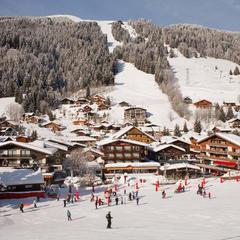 Skiing at Les Gets, Portes du Soleil