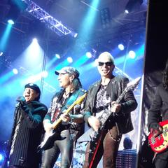 Scorpions on stage at Top of the Mountain concert, Ischgl. - ©Clare Meaney