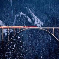 Rhätische Bahn auf dem Langwieserviadukt - ©Rhaetische Bahn