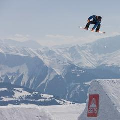 Freestyle snowboarder at the Brits in Laax - © the-brits.com