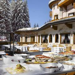 South-facing terrace at Airelles, Courchevel