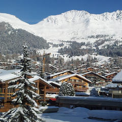 Perfect ski conditions at Verbier. Jan. 11, 2013