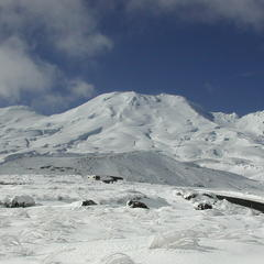 Mt Ruapehu New Zealand in winter