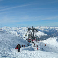 Top of the Aguille Rouge (3,226m) in Les Arcs